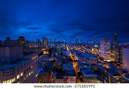 San Francisco Skyscaper - stock photo