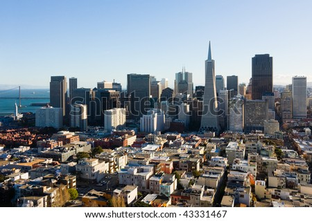 San Francisco skyscrapers - stock photo