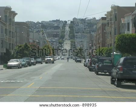 San Francisco street - stock photo