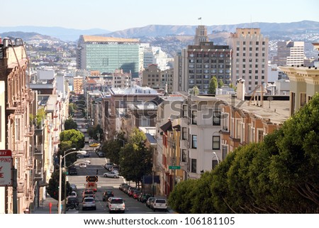 San Francisco street view - stock photo