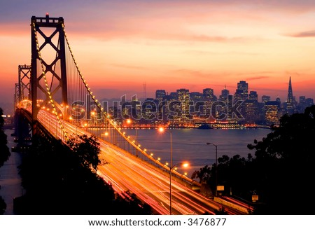 San Francisco Sunset - stock photo