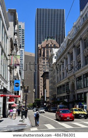 San Francisco; USA - july 13 2016 : street in the city center