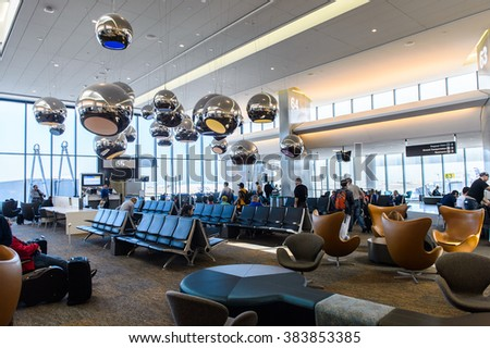 SAN FRANCISCO, USA - OCT 6, 2015: San Francisco International Airport (SFO). SFO is the main airport in San Francisco, California