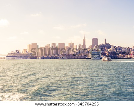 SAN FRANCISCO, USA - SEPTEMBER 15: cityscape on September 15, 2015 in San Francisco, California, United States. It was founded on June 29, 1776. - stock photo