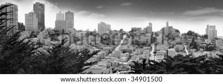 san Francisco view - stock photo