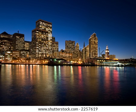 San Francisco Waterfront  - night