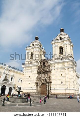 San Fransisco monastery in Lima, Peru - stock photo