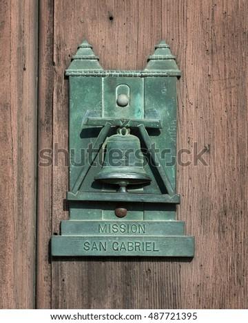 SAN GABRIEL CALIFORNIA - AUGUST 3 Door knocker at Mission San Gabriel Archangel on & San Gabriel California August 3 Exterior Stock Photo 487721380 ...