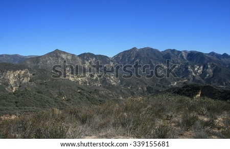 San Gabriel Mountains, Angeles National Forest, CA - stock photo