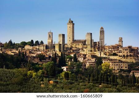 San gimignano in Italy - stock photo