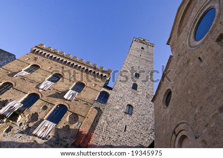 San Gimignano  in Tuscany, Italy - stock photo