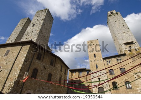 San Gimignano in Tuscany - Italy - stock photo