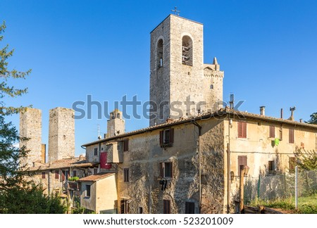 San Gimignano, Italy. Ancient towers