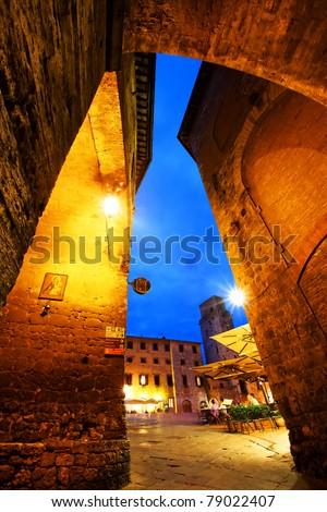 San Gimignano Medieval Village, Italy, Europe - stock photo