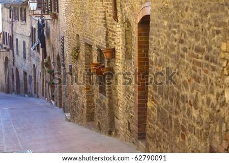 San Gimignano, Tuscany, Italy - stock photo