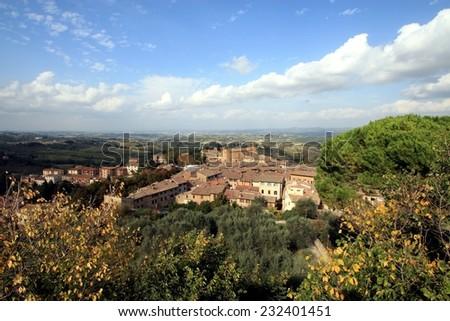 San Gimignano, Tuscany, Italy, Unesco world heritage site - stock photo