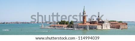San Giorgio Maggiore panoramic photo - stock photo