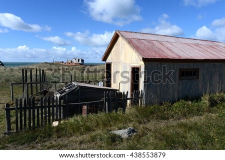 SAN GREGORIO, CHILE - NOVEMBER 11,2014:San Gregorio commune in Chile. Is part of the province and Magallanes region Magallanes and Antarctica Chilena.