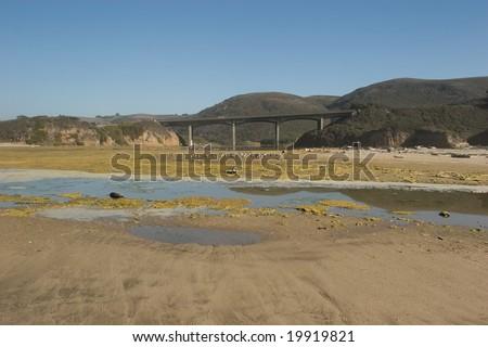 San Gregorio State Beach is a beach near San Gregorio, California, USA, south of Half Moon Bay. - stock photo