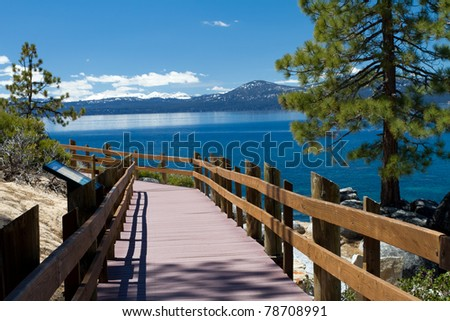San Harbor, Lake Tahoe - stock photo