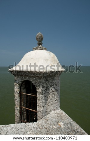 San Jose Battery watchtower (Spanish fort-1753), Baru island,  Cartagena de Indias, Bolivar Department,, Colombia, South America.