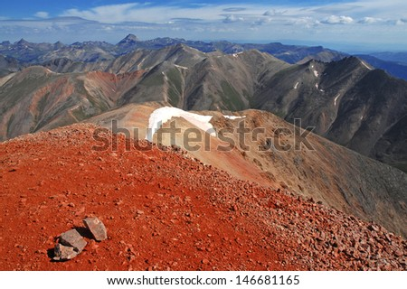 San Juan Mountains, Colorado, Rocky Mountains, USA - stock photo