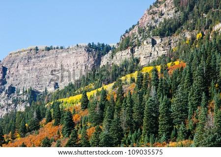 San Juan Mountains in Fall, Colorado, USA - stock photo