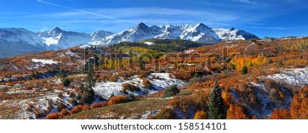 San Juan mountains panoramic view - stock photo