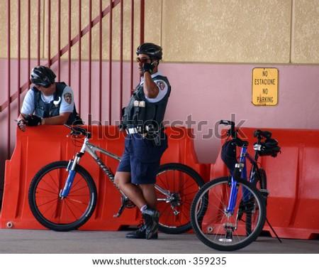 San Juan Port Policemen - stock photo