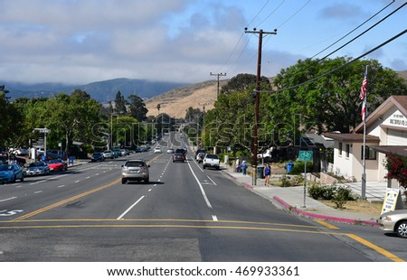 San Luis Obispo, USA - july 14 2016 : the picturesque city in summer