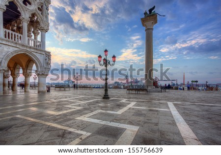 San Marco square in the morning. Venice. Italy. - stock photo
