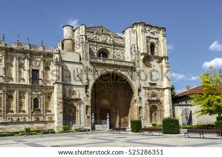 San Marcos Monastery of the sixteenth century in San Marcos square. Leon, Spain