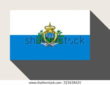 San Marino flag in flat web design style. - stock photo