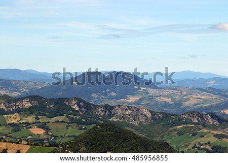 San Marino mountains and hills landscape