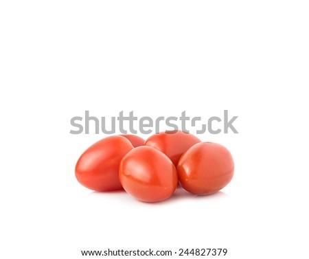 San marzano plum tomatoes on white background - stock photo