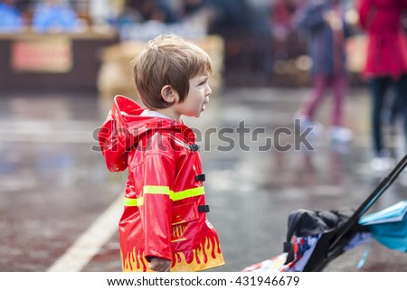 SAN MATEO, CA May 20 2016 - A child watches in amazement during a RC drone demonstration at the 11th annual Bay Area Maker Faire at the San Mateo County Event Center. - stock photo