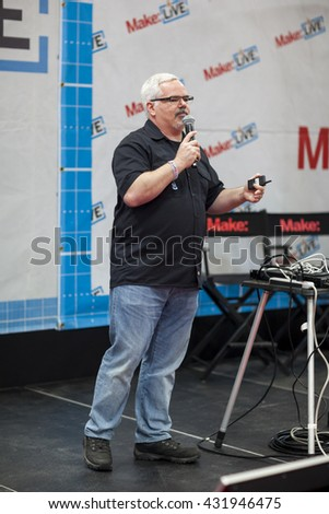SAN MATEO, CA May 20 2016 - The 11th annual Bay Area Maker Faire at the San Mateo County Event Center. - stock photo