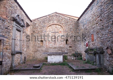 San Michele in Castel di Nocco church, Buti, Tuscan, Italy