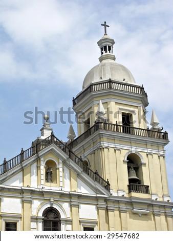 San Pedro church in Lima Peru - stock photo