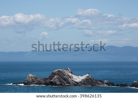 San Pedro Rock, Pacifica, San Mateo County, California - stock photo