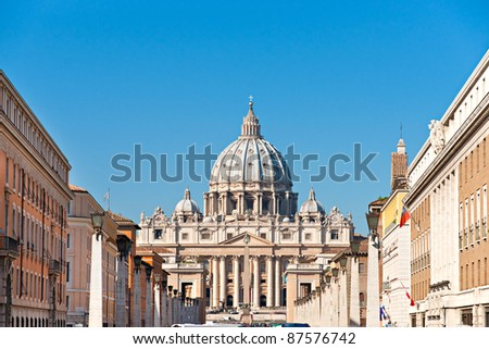 San Peter basilica Rome, Italy. - stock photo