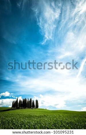San Quirico d�´Orcia, Tuscany, Italy - stock photo