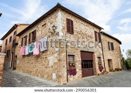 SAN QUIRICO DORCIA, ITALY - OCTOBER 6: Views of the old town part of San Quirico dorcia in the Italian region Tuscany on October 6, 2009. Its a comune (municipality) in the Province of Siena.
