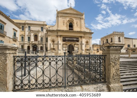 San Salvatore church, Noto, Sicily, Italy, Europe