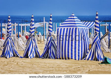 San Sebastian beach in Donostia. One of the best beaches in Basque Country and Spain - stock photo