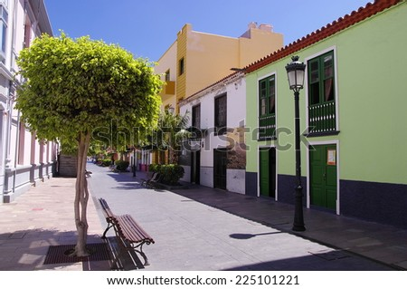SAN SEBASTIAN DE LA GOMERA, AUGUST 8, 2014; People went for a siesta in the capital of the La Gomera on August 8, 2104, The population of San Sebastian is about 9000. La Gomera, Canary island, Spain