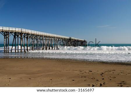 San Simeon Pier - San Simeon, California - stock photo