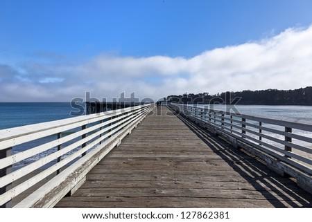 San Simoen pier in southern California - stock photo