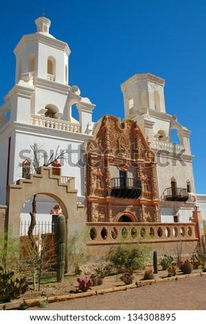 San Xavier Mission - stock photo
