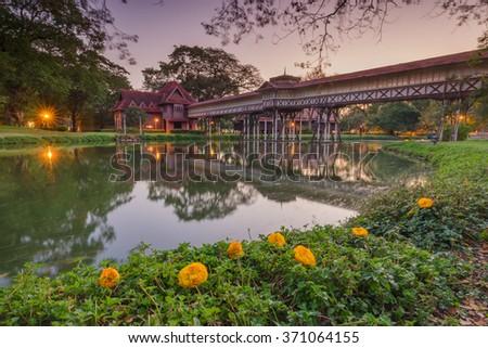 Sanam Chan Palace,(King Rama 6), Nakhon pathom, Thailand - stock photo